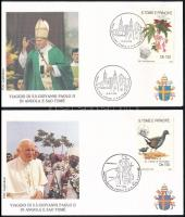 1992 Pápai látogatás 3 db levél Papal visit Mi 1324 I-II +1326 IV