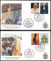1992 Pápai látogatás 2 db levél, Papal visit Mi 895-896