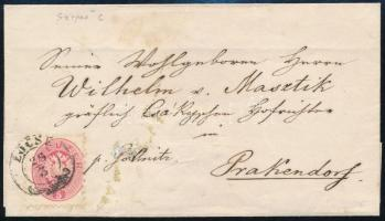 ca. 1864 5kr on cover
