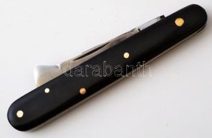 Szemzőkés, rézbetéte, fekete cell. nyéllel, felújított, h:16,5 cm