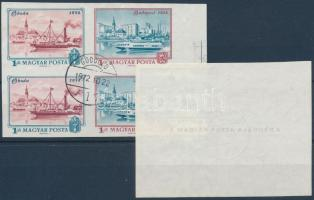 1972 Polgármesteri ajándék sor 1 Ft és 3 Ft négyestömbjei bélyegezve (~90.000) (ráncok / creases)