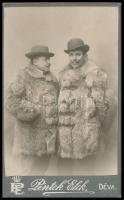 cca 1900 Déva, két román bojár / 2 Romanian bojars 7x11 cm