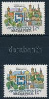 1969 Dunakanyar 1Ft nyomdailag előbélyegzett, nem áztatott bélyeg jelentős színeltéréssel. Certificate: Glatz