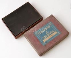 cca 1931 Eger, a Foto-Gráf műteremben készült 16 db vintage üveglemez negatív (külső felvételek is vannak a dobozban), 12x16 cm