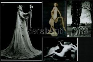 cca 1935 Angelo (1894-1974) budapesti fényképész és fotóművész vintage alkotásairól készült, 4 db mai nagyítás, 10x15 cm és 25x18 cm között