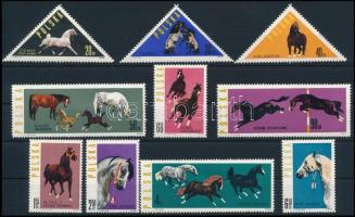 1963 Lovak sor, Horses set Mi 1447 - 1456