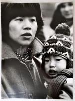 Ujhelyi István (1936-2003) budapesti fotóművész hagyatékából pecséttel jelzett, vintage fotóművészeti alkotás (Japán madonna), 40x30 cm