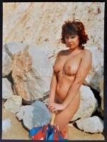 cca 1989 A hegy szétszedése, Menesdorfer Lajos (1941-2005) budapesti fotóművész hagyatékából, feliratozott, vintage fotóművészeti alkotás, 40x30 cm