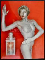 cca 1996 Bádogember I., Menesdorfer Lajos (1941-2005) budapesti fotóművész hagyatékából, feliratozott, vintage fotóművészeti alkotás, 40x30 cm