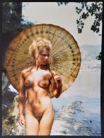 cca 1994 Kék tó, Menesdorfer Lajos (1941-2005) budapesti fotóművész hagyatékából, feliratozott, vintage fotóművészeti alkotás, 40x30 cm