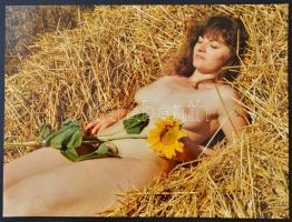 cca 1992 PiheNő, Menesdorfer Lajos (1941-2005) budapesti fotóművész hagyatékából, feliratozott, vintage fotóművészeti alkotás, 30x40 cm