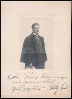 1927 Palotay Árpád (1885-1950) operaénekes, operarendező, énektanár, dedikált fotója, 14x9 cm.