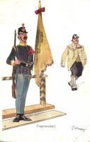 Fegyverbe / Austro-Hungarian K.u.K. officers. B. K. W. I. 459-3. s: Schönpflug (EK)