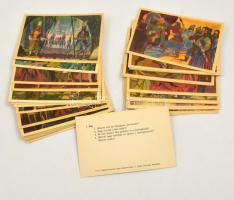 cca 1955 Történelmi kártyajáték, 41 lapos
