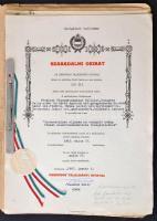 1963-1967 Ozmométer szabadalmi iratai, szabadalmi leírása, okirata, dokumentációja,...stb, papír mappában