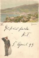 1899 Yalta, Jalta; Saluting mariner, litho (r)