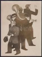 Johan van Hell (1889-1952) vizuális művész egyik alkotásáról készült fotómásolat, 22×16,5 cm