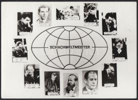 cca 1970 Sakkvilágbajnokok / Chess world champions. 18x14 cm
