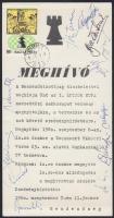 1980 Az Építők Kupa sakkverseny meghívója sakkozók aláírásával