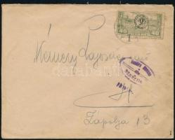 1919 Cenzúrás levélen Debrecen 40f bélyeg Zápolyára / Censored cover. Signed: Bodor