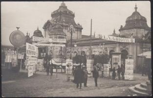 cca 1920 A Prágai Nemzetközi Vásár pavilonja, fotólap, 8,5×14 cm