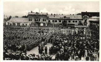 1938 Beregszász, Berehove; bevonulás / entry of the Hungarian troops
