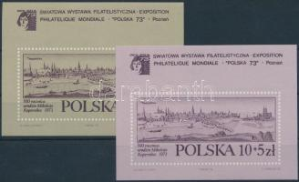 1973 Bélyegkiállítás blokkpár, Stamp Exhibition blockpair Mi 55 + 56