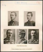 cca 1934 József királyi főherceg, 2 db kézzel készített tabló, 22,5×18,5 cm