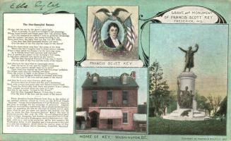 1911 Washington, Home, grave and monument of Francis Scott Key. Art Nouveau (EK)