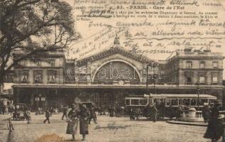 Paris, Gare de lEst / railway station, trams (EK)