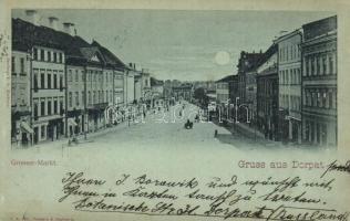 1901 Tartu, Dorpat; Grosser Markt / square (tiny tear)