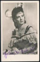 Szilágyi Szabó Eszter (1915-?) színésznő aláírása őt ábrázoló fotólapon