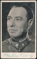 Bilicsi Tivadar (1901-1981) színész aláírása őt ábrázoló fotólapon