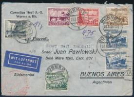 1938 Légi levél Argentínába / Airmail cover to Argentina