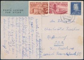 1959 Légi képeslap az NDK-ba / Airmail postcard to DDR