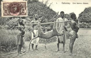 Dahomey, Une bonne chasse / hunted leopard