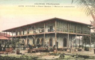 Grand-Bassam, Maison en construction / construction of a house