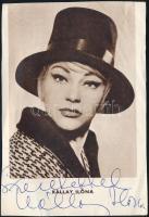 cca 1960-1970 Kállay Ilona (1930-2005) színésznő dedikációja egy őt ábrázoló újságkivágáson, 13x8 cm