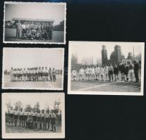 Focicsapatok, 4 db fotó, 6×8,5 és 7,5×40,5 cm