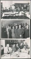 cca 1930-1940 A Magyar Királyi Posta vezérkara, 3 db fotó, 9×14 cm