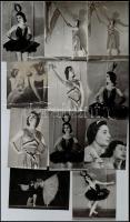 cca 1940-50 Tánc- és színpadi portrék, kb. 100 db fotó, Kádár György (1912-2002) Kossuth-díjas festő, grafikus, főiskolai tanár hagyatékából, 8x6 cm és 9x16 cm