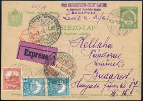 1932 vitéz Sándor Garamszeghy-Géczy (1879 - 1964) színész, a Nemzeti Színház tagjának saját kézzel írt levelezőlapja, névbélyegzőjével, aláírással.