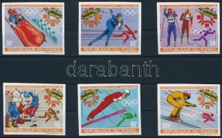 Winter olympic imperforate set, Téli Olimpia vágott sor