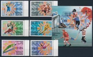 Winter olympic set and block, Téli Olimpia sor és blokk