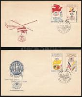 Stamp exhibition 2 FDC, Bélyegkiállítás 2 FDC