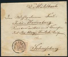 ~1855 6kr on cover