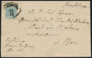 ~1854 9kr on cover