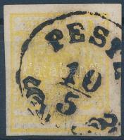 "1kr citrine MP III ""PESTH"" Certificate: Steiner, 1kr citromsárga MP III ""PESTH"" Certificate: Steiner"