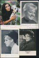 4 db színésznő aláírás fotón: Krencsey Mariann, Pécsi Ildikó, Csala Zsuzsa, Járay Katalin