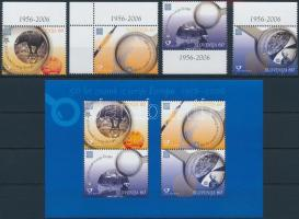 50th anniversary of Europe CEPT margin set + block, 50 éves az Europa CEPT ívszéli sor + blokk